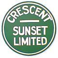Tomar 5436 N Lighted Drumhead Kit Southern Pacific Crescent Sunset Heavyweight Round