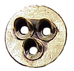 Tomar 6042 HO Brass Signal Head Three-Light Target