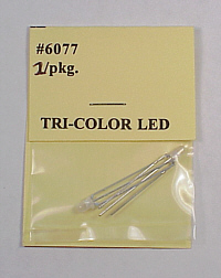 Tomar 6077 HO Tri-Color LED for Searchlight Signals No Wire