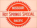 Tomar 5661 N Lighted Drumhead Kit Missouri Pacific Hot Springs Special Heavyweight Rectangle