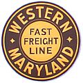 Tomar 9479 O Lighted Drumhead Kit Western Maryland Fast Freight Lines Heavyweight Round