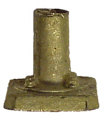 "Tomar 6062 HO Brass Signal Bases Fits 3/32"" Outside Diameter Tube Standard Style"